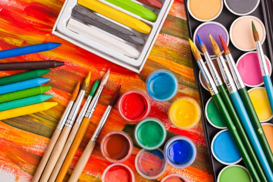 Paints-and-brushes