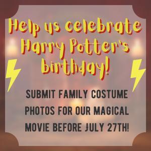 Help us celebrate Harry Potter's birthday!